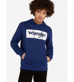 "Wrangler ""Logo Hoodie"" Blue Depths"