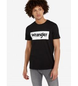 """Wrangler """"Logo Tee"""" Black"""