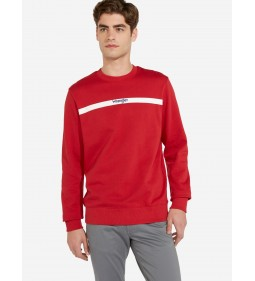 "Wrangler ""Stripe Logo Sweat"" Red"