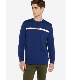 "Wrangler ""Stripe Logo Sweat"" Blue Depths"