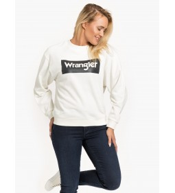 "Wrangler ""80'S Retro Sweat"" Off White"