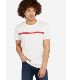 "Wrangler ""Stripe Logo Tee"" Off White"