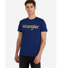 """Wrangler """"Wrangler Tee"""" Blue Depths"""
