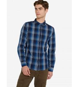 "Wrangler ""1Pkt Shirt"" Blue"