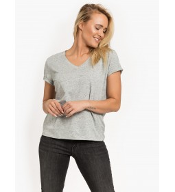 "Lee ""V Neck Tee"" Grey Mele"