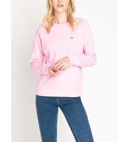 "Lee ""Plain Crew Neck Sws"" Frost Pink"
