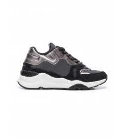 "Pepe Jeans ""Sneakersy Harlow Up  Run"" Black"