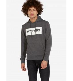 "Wrangler ""Logo Hoodie Dark"" Grey Mel"