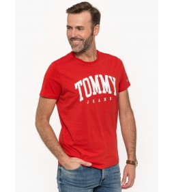 """Tommy Jeans """"Essential Logo Tee"""" Red"""