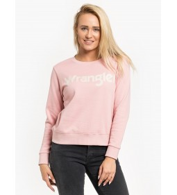 "Wrangler ""Logo Sweat"" Bridal Rose"