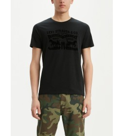 """Levi's """"2-Horse Graphic Tee"""" Ssnl 2H T2 Mineral Black"""