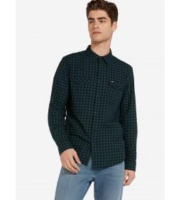"""Wrangler """"Ls 2Pkt Flap Shirt"""" Pine"""