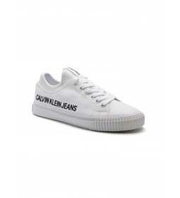 Calvin Klein Icarus Low Top Lace Up Canvas White