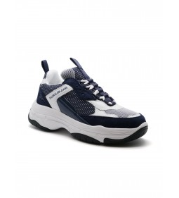 Calvin Klein Marvin Low Top Lace Up Suede White/Navy
