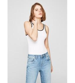 """Pepe Jeans """"Steffi"""" White DUA LIPA"""