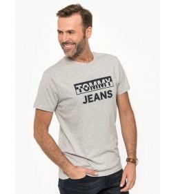 """Tommy Jeans """"Split Block Logo Tee"""" Grey"""