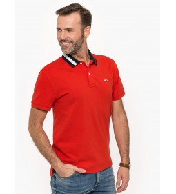 """Tommy Jeans """"Flag Neck Polo"""" Red"""