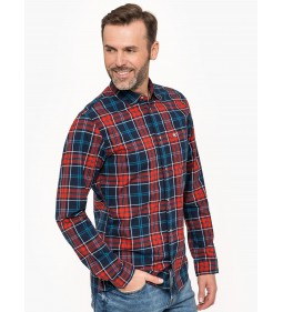 "Tommy Jeans ""Essential Check Shirt"" Blue"