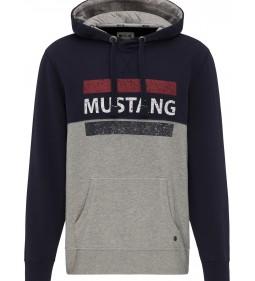 "Mustang ""Bennet H Logoprint"" Grey"