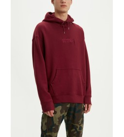 "Levi's ""Relaxed Graphic Hoodie"" Babytab Tech Cabernet"