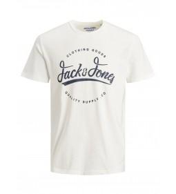 """Jack & Jones """"Jorraffy Tee Crew Neck"""" Cloud Dancer"""