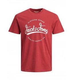 """Jack & Jones """"Jorraffy Tee Crew Neck"""" Brick Red"""