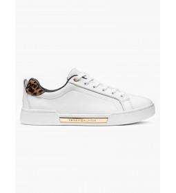 "Tommy Hilfiger ""Branded Leo Print Sneaker"" White"